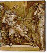 Achilles And Briseis Canvas Print