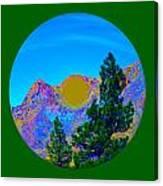 Acid Desert Orb 2 Canvas Print