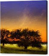 Acid Sunset Canvas Print