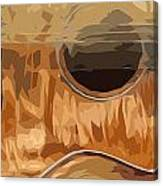 Acoustic Guitar Brown Background 2 Canvas Print