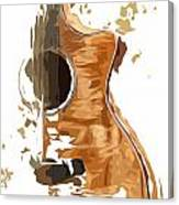 Acoustic Guitar Brown Background 4 Canvas Print