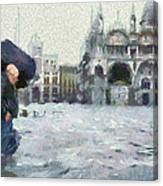 Acqua Alta Venice Canvas Print