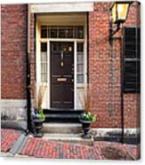Acorn Street Door And Lamp Canvas Print