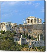 Acropolis Of Athens Canvas Print