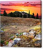 Acropolis Of Eretria  Canvas Print