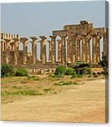 Acropolis Of Selinunte Canvas Print