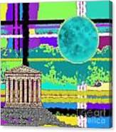 Acropolis Plaid Canvas Print
