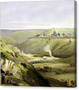 Across Jerusalem Valley Canvas Print