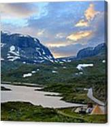 Across Scandinavian Mountains Canvas Print