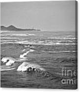 Across The Bay Bw Canvas Print