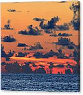 Across The Great Blue Waters Canvas Print