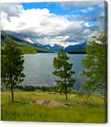 Across The Lake Canvas Print