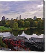 Across The Pond 2 - Central Park - Nyc Canvas Print