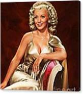 Actress Carole Landis Canvas Print