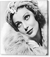 Actress Loretta Young Canvas Print