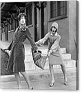 Actresses On Roller Skates Canvas Print
