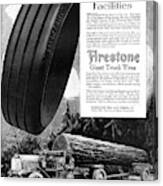 Ad Firestone, 1918 Canvas Print