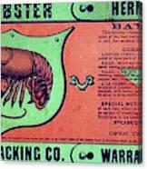 Ad Lobster, C1867 Canvas Print