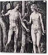 Adam And Eve Engraving Canvas Print