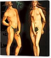 Adam Eve And The Serpent Canvas Print