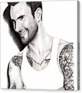 Adam Levine Canvas Print