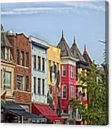 Adams Morgan Neighborhood In Washington D.c. Canvas Print