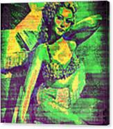 Adele Mara - 1940s Pin Up Canvas Print