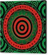 Adinkra Disk Pan-african II Canvas Print