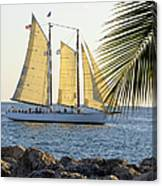 Sailing On The Adirondack In Key West Canvas Print