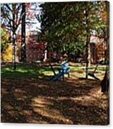 Adirondack Chairs 2 - Davidson College Canvas Print