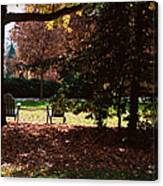 Adirondack Chairs-3 - Davidson College Canvas Print