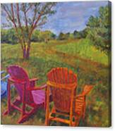 Adirondack Chairs In Leiper's Fork Canvas Print