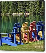 Adirondacks At Jasper Lodge Canvas Print