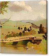 Adirondacks Bridge For Fishing Canvas Print