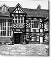 Adlington Hall Courtyard Bw Canvas Print