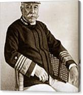 Admiral Of The Navy George Dewey Seen In 1899 On The Uss Olympia Canvas Print