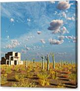 Adobe House Canvas Print