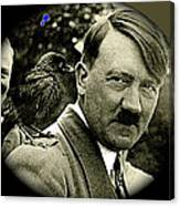 Adolf Hitler And A Feathered Friend C.1941-2008 Canvas Print