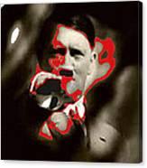 Adolf Hitler Saluting Screen Capture From Newsreel No Date-2008 Canvas Print