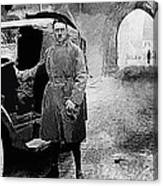 Adolf Hitler Shortly After His Release From Prison With A Mercedes 1924 - 2012 Canvas Print