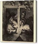 Adriaen Van Ostade Dutch, 1610-1685, The Singers Canvas Print
