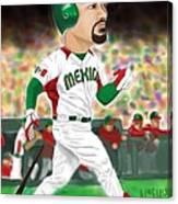Adrian Gonzalez Team Mexico Canvas Print
