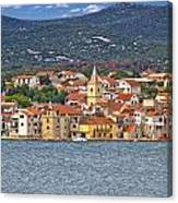 Adriatic Town Of Pirovac Waterfront Canvas Print