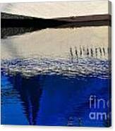 Adrift On The Deep Blue Canvas Print
