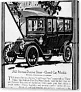 Ads Automobile, 1912 Canvas Print