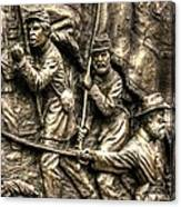 Advancing The Colors - State Of Delaware Monument Gettysburg Detail-a Autumn Mid-day Canvas Print