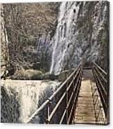 Adventure Retro Bridge Canvas Print