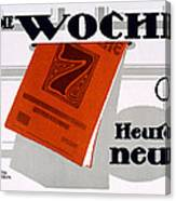 Advert For Die Woche Canvas Print