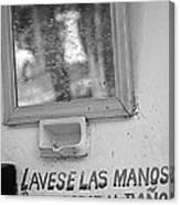 Advertencia Canvas Print