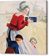 Advertisement For Chocolat Au Lait Canvas Print